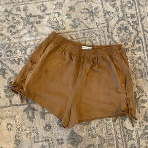 NWT Abercrombie Faux Suede shorts